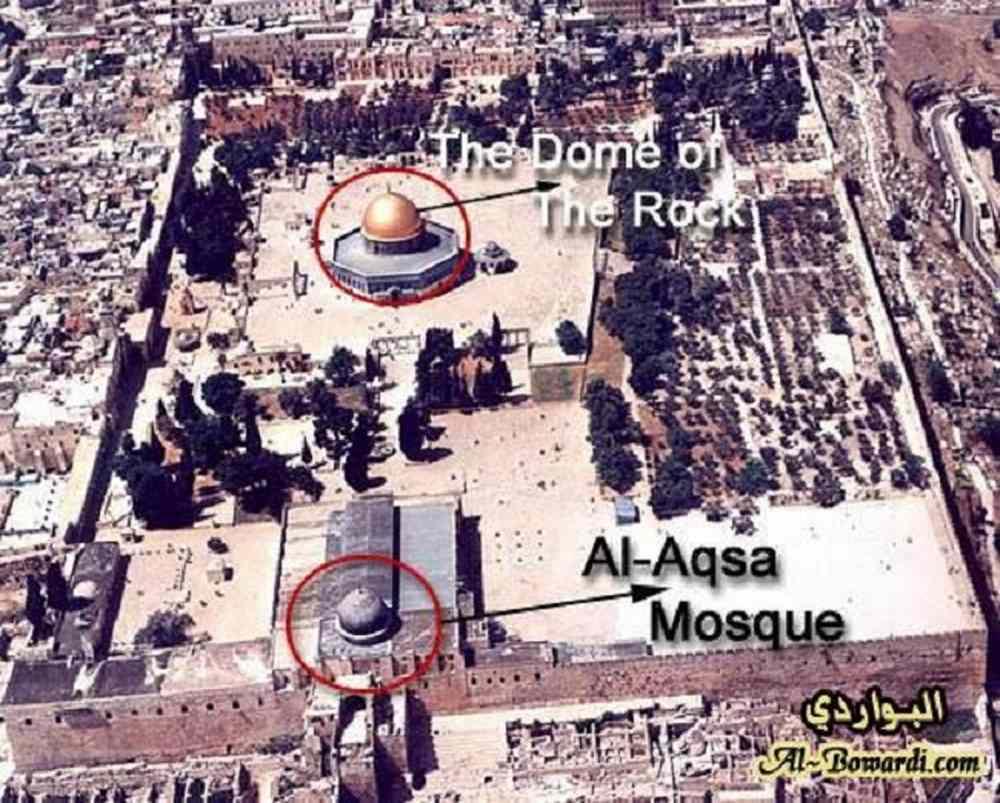مکان دقیق مسجدالاقصی در کجا قرار دارد؟